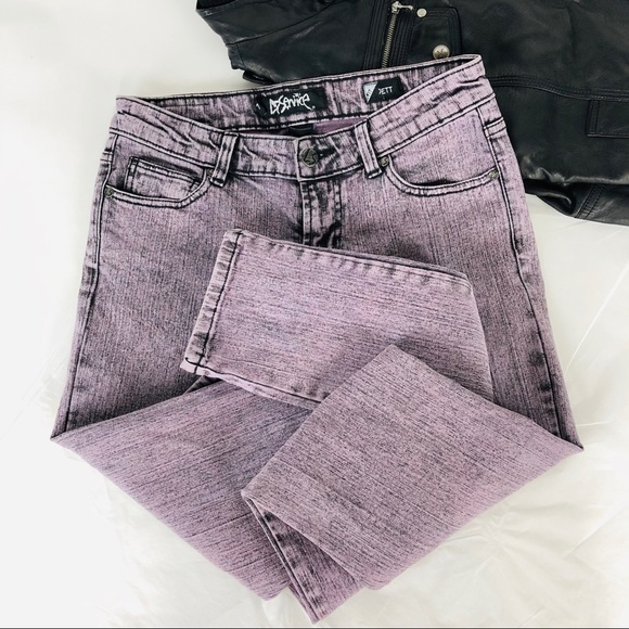 Lip Service Denim - Lip Service acid wash lavender skinny jeans Jett